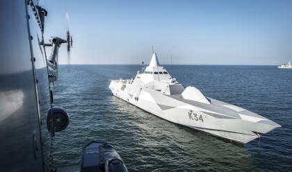 Försvarsmaktens stealth-korvetter i Visbyklassen deltar i Aurora 17 som avslutas i veckan. BILD: Försvarsmakten