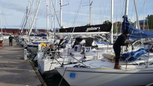 Maj och fullt med gästande segelbåtar i Visby hamn!
