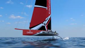 Så här kan en båt byggd enligt America's Cups nya klassregel se ut. Bild: America's Cup