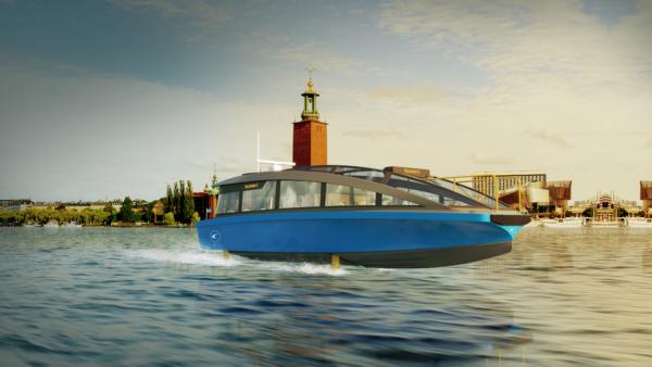 Första eldrivna bärplansfärjan sjösätts i Stockholm