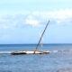 Båten sjönk – och föll i backen