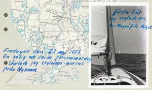 Fredagen den 27 maj 1977. En solig och varm försommardag startade jag och seglasten norrut från Nykvarn.