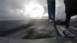 På väg över Biscayabukten!