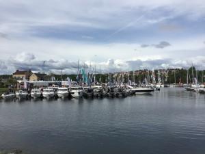 Över 280 båtar var utställda.