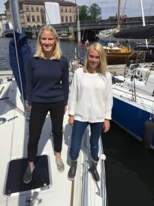 Kusinerna Eva-Stina Forslund och Anna Forslund Lagerstierna är en av tre kvinnliga tvåmansbesättningar i årets Gotland Runt.