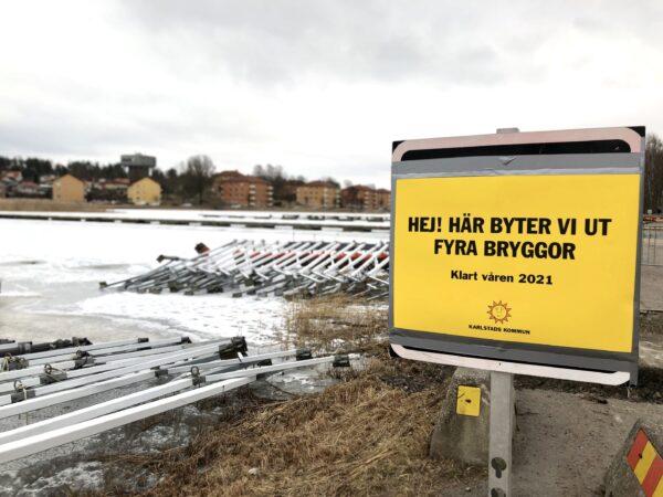 Nya bryggor och båtpool i Karlstad