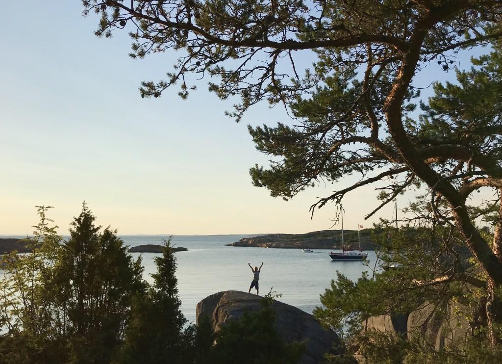 En glad liten seglare på ett landhugg. Foto: Lars Ole Guldevang.