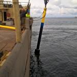 Utmärkning från Sjöfartsverkets fartyg Scandica. BILD: Sjöfartsverket