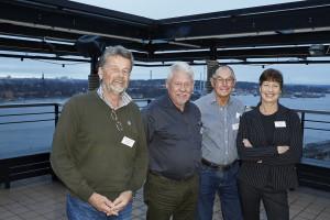 Lennart Falck, Olle Svärd, Lars-Gösta Dahlström och Åsa Kullberg höll från Miljönämnden höll i söndagens workshop. Bild: Stefan Holm