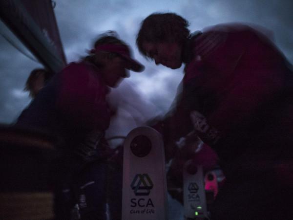 Abby Ehler and Sara Hastreiter på SCA under VOR. BILD: Corinna Halloran