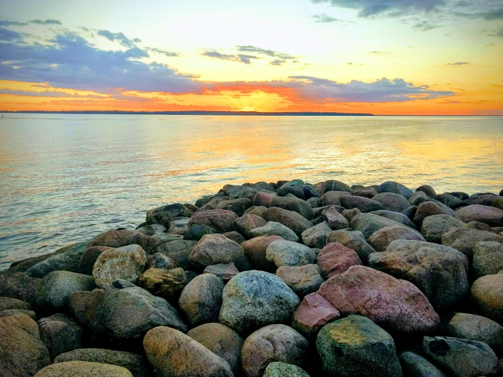 Solnedgång vi stora Rör på Öland. Fotat av Anita Dahllöv.