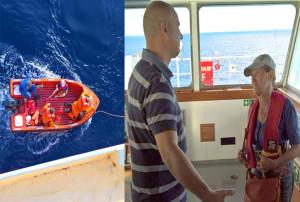 Elizabeth Dabrowny räddades ombord på fraktfartyget Orange Star. Bild: Privat