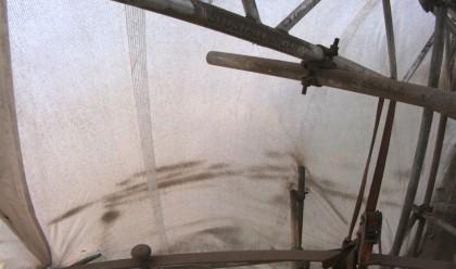 Utsikten från fyrtornet under ombyggnaden. Webbkamera.