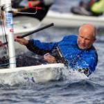 Birger Törnqvist säljer Laser på söndag, men nästa söndag seglar han igen. BIlden är från Master EM i oktober förra året.