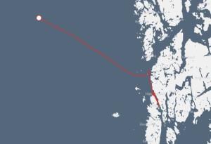 På Drakens sajt (länk nedanför artikeln) kan man följa långskeppets resa i realtid.