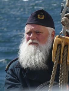 Fartygschef Thomas Falk har seglat 20 år på Falken. Foto: Linda Hammarberg