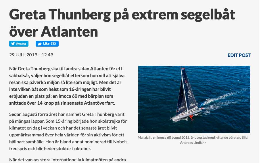 Greta Thunberg Boris Herrmann