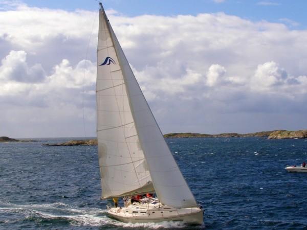 En Hanse 411 från 2005 är an av båtarna som visas upp i Henån i helgen. BILD: XLNT Yachting