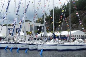 Hallberg Rassys egna båtar dominerar i vanlig ordning.