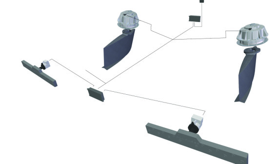 Humphrees electric stabilising fin and interceptor system