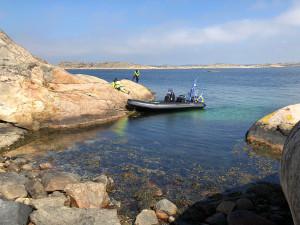 En ny hamn väster om Havstenssund får nya dubb och lodas! Bild: Peter Junermark