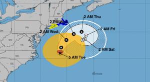 Orkanen Josés bana, enligt NOAA.