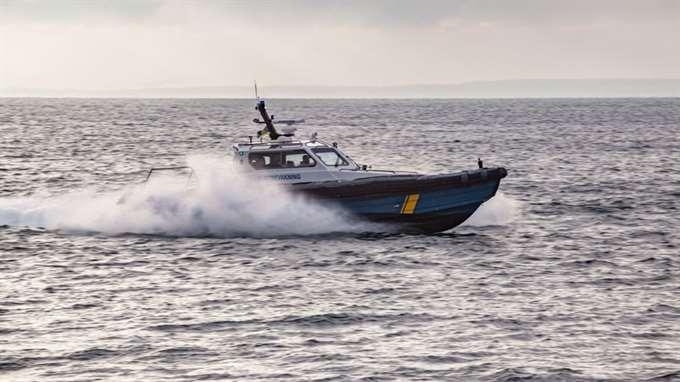 KBV 474 är en av Kustbevakningens höghastighetsbåtar.