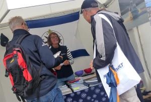 Kryssarklubbens Västkustkrets informerade om bland annat eskradrar och utbildningar. Bild: Linda Hammarberg