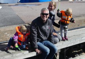 Familjen Lagerström har köpt ny båt och är på mässan för inspiration. Bild: Linda Hammarberg