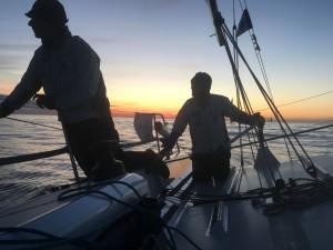 Pernilla Wiberg och Anders Lewander seglade i en FarEast 28R. Här är de på väg in mot Visby. BILD: Eric Raabe