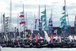 Både motorbåtar och segelbåtar på Marstand Boat Show i år