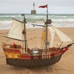 Adventure vid sjösättningen i Peterhead. BILD: Familjen Ferguson