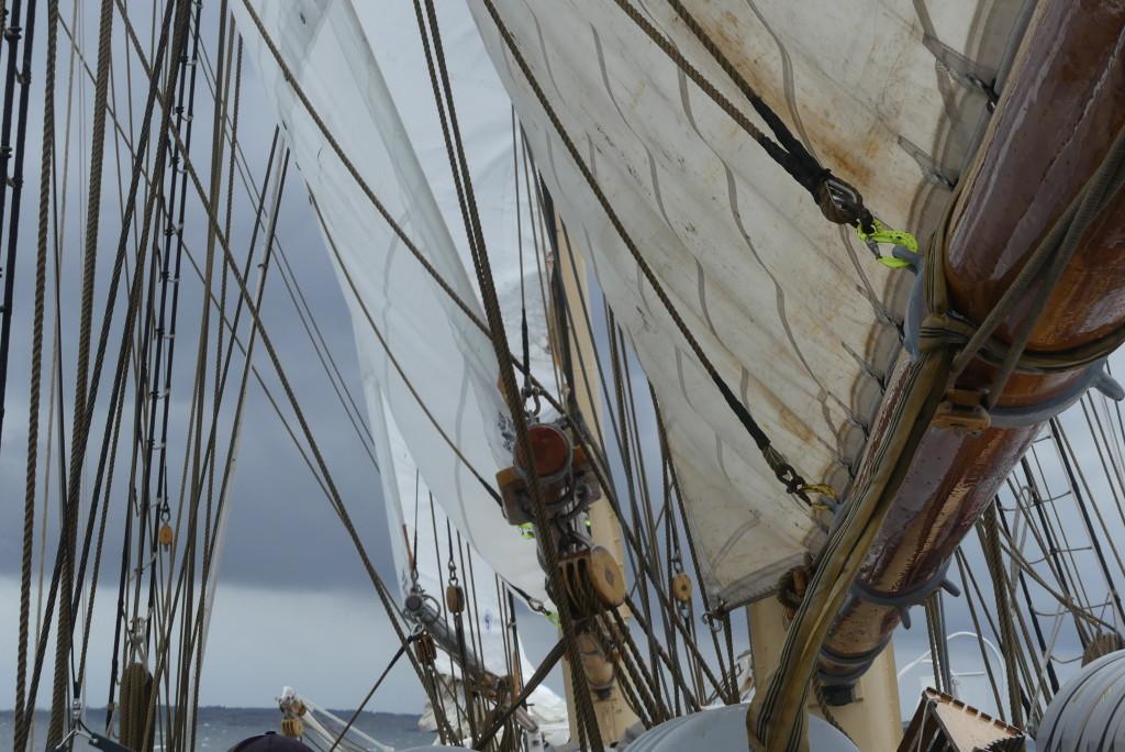 Totalt finns 7200 meter tackling ombord på Falken. Foto: Linda Hammarberg