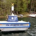 Den flytade toatömningsstationen vid Malma kvarn sköts av Kryssarklubben.