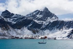 Yaghan för ankar i Grytviken på Sydgeorgien.